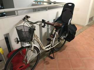 Adult bicycle with child seat