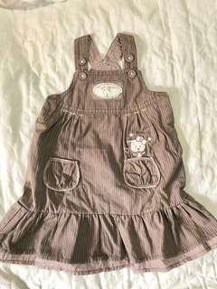 Stripped denim dress