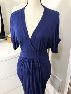 Authentic Zara beautiful rich blue hourglass dress