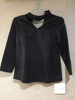 Karenina Black colar top