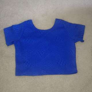 Cotton On Royal Blue Crop Top