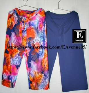 Printed/ Plain Belted Square Pant's (Free Size).  can fit up to size 36 waistline.