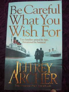 Be Careful What You Wish For - preloved book