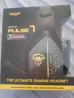 Pc gaming headset (armageddon pulse 7)