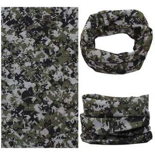 🚚 Multi Scarf HS-A22 <<NO STOCK>> - White Green Camouflage