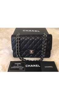 Authentic Chanel Medium Double Flap Caviar