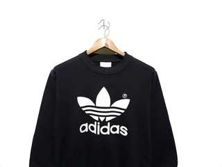 Sweater sweatshirt crenwneck adidas trefoil black