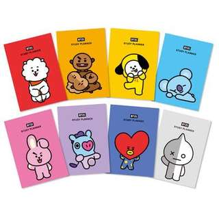 READYSTOCK BT21 STUDY PLANNER [ CHIMMY TATA COOKY ]