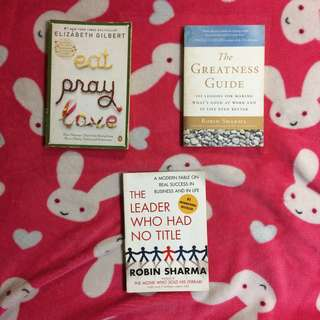 [IMPORTED BOOKS] Robin Sharma & Elizabeth Gilbert