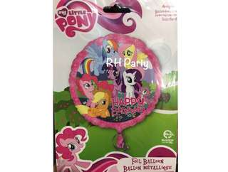 (13/6) Include helium Happy Birthday My little pony & Friends foil balloon