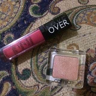 Make Over Matte Lip Cream + Catrice Eyeshadow