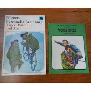 'Tiger, Paleface and Me' by Nippers Petronella Breinburg / 'Francis Drake' by O.B. Gregory