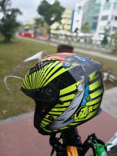 Lazer helmet Magical Feather Design
