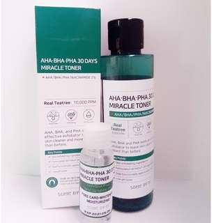2 PIECES LEFT SOMEBYMI:AHA BHA PHA 30 DAYS TONER Decanted (trial size) 20ml