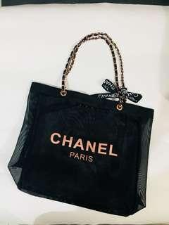 Chanel 玫瑰金網紗袋 (專櫃贈品)