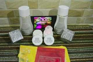 Cream HNS crystal ada bpom, kualitas bagus, hasilnya glowing, yu order.