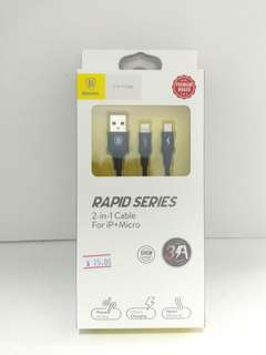 🚚 Baseus Rapid Series 2-in-1 Cable
