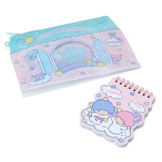 Japan Sanrio Little Twin Stars Pen Case & Memo
