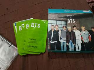 MEDIHEAL X BTS sheet mask (photo cards not included, the mask itself only)
