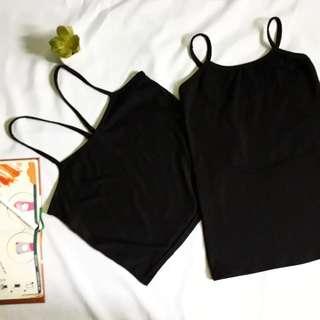 Black cami tops bundle 100