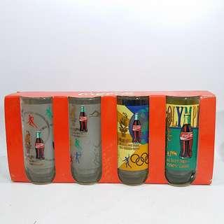 中古 懷舊 1996 亞特蘭大奧運會 可口可樂紀念版 玻璃水杯4只
