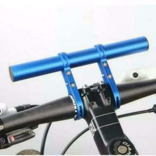 Blue 200mm Blue Aluminum Extension - Extra Space For Bicycle Lights, GPS Or Phone Holder