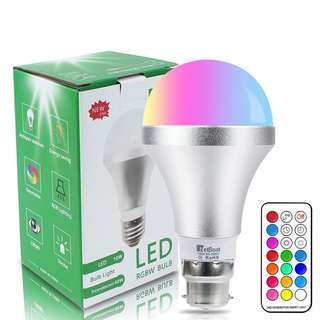 690. NetBoat Colour Changing Bulb B22 10W Dimmable,Netboat RGBW LED Light Bulbs Mood Lighting with 21key Remote Control,Dual Memory Function,12 Color Choices for Home Decoration Bar Party KTV Stage Effect Lights [Energy Class A+]