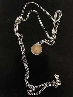 1920-1930's (Early-Mid) Old Straits Settlements Chinese Pure Vintage Silver Chain Ladies Belt.