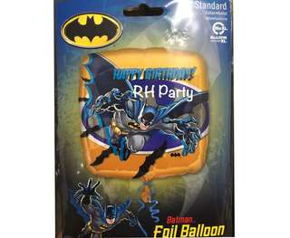 (13/6) With helium Superhero Batman happy birthday foil balloon