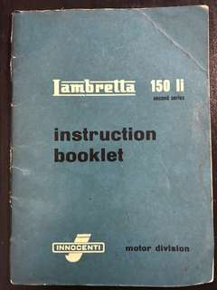 Lambretta 150 instruction booklet