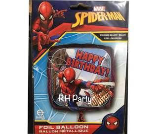(13/6) Include Helium Superhero Spiderman Happy Birthday Foil Balloon