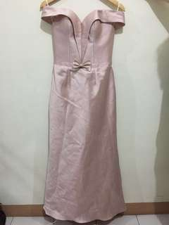 Rent! Nude Pink Gown made by Paolo Blanco
