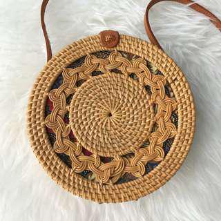 Rattan Brown Braid Bag
