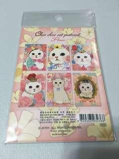韓國 choo choo cat postcard 貓貓 名信片