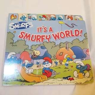 藍精靈 Smurfy world hard cover book