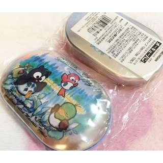 日本版 - 懷舊絕版卡通公仔膠布連鐵盒 SANRIO Patapatapeppy 貓頭鷹 1995年出品