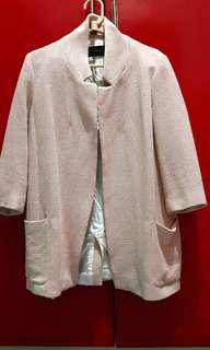 Zara coat blush pink