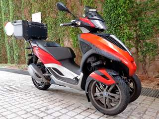 Piaggio Yourban 300 with Givi Trekker Outback