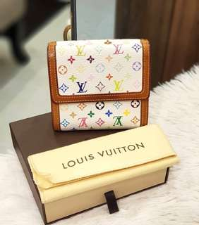 Lv Multicolor Short Wallet ❤️BIG SALE P13,995 ONLY❤️ In very good condition With box and dustbag Swipe for detailed pics