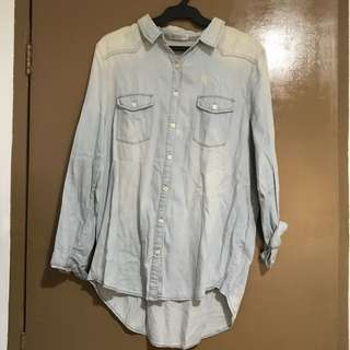 Cotton On Oversized Denim Top