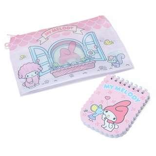 Sanrio 日本版 My Melody PVC 筆袋連筆記簿仔套裝 Pen Pouch with Note Book Set