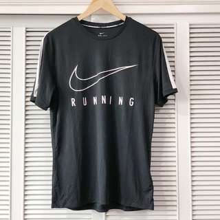 Nike Men's Running Black and White Shirt