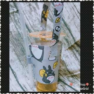 🚚 《現貨》🍭卡通防水環保杯套/手搖杯杯套🍭