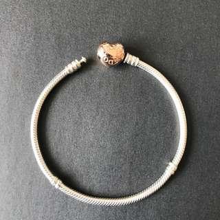 Pandora 玫瑰金手鏈19cm