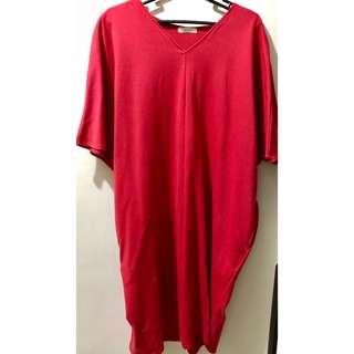 Simone's Closet Red Boho Dress Maternity