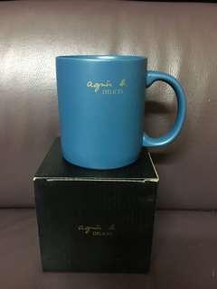 Agnes B 藍色杯 全新有盒