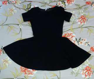 🍇 h&m basic dress [black]