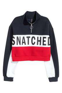H&M Snatched Zip Pullover/Jumper/Sweater