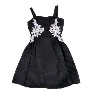 BNWT Padded Embross Dress with Crochet Lace