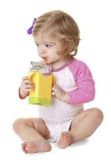 60% off SALE!! Preloved Nuby juice box holder / BPA free juice holder / toddler weaning and feeding utensils